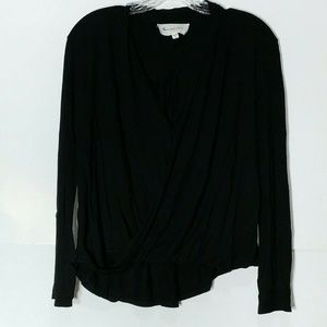 Two by Vince Camuto Draped Twist Front Black Small